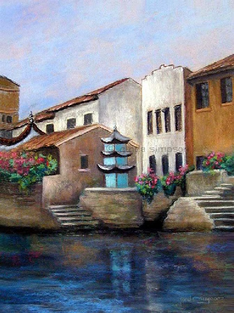 Along the Grand Canal Painting